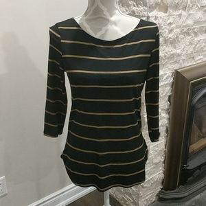 Jules & Leopold striped 3/4 sleeve top